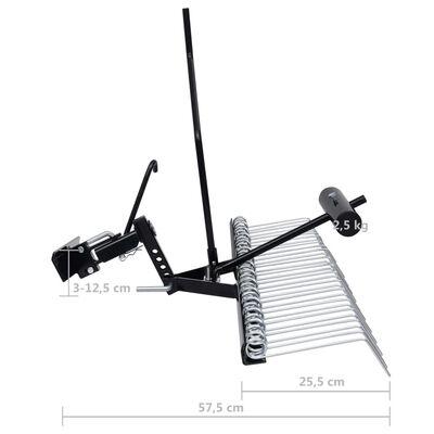 vidaXL Scarificator pentru mașină de tuns iarbă ride-on, 120 cm