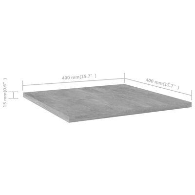 vidaXL Plăci bibliotecă, gri beton, 4 buc, 40 x 40 x 1,5 cm, PAL