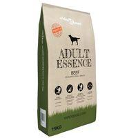 vidaXL Hrană de câini uscată premium Adult Essence vită 15 kg