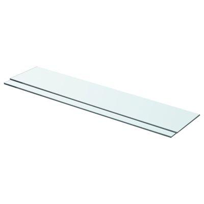vidaXL Rafturi, 2 buc., 70 x 15 cm, panouri sticlă transparentă