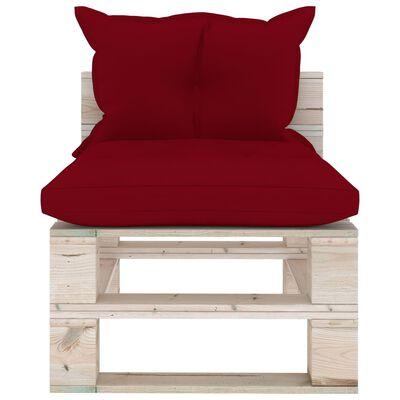 vidaXL Set mobilier grădină din paleți, 6 buc, cu perne, lemn de pin