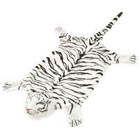 vidaXL Covor cu model tigru 144 cm Pluș Alb