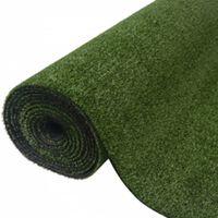 vidaXL Gazon artificial, 1x8 m/7-9 mm, verde