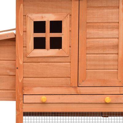 vidaXL Coteț de păsări, 170 x 81 x 110 cm, lemn masiv pin și brad