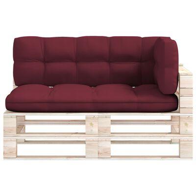 vidaXL Perne de canapea din paleți, 3 buc., roșu vin