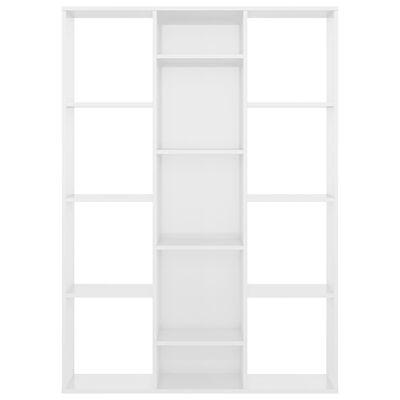 vidaXL Separator cameră/Bibliotecă alb extralucios 100x24x140 cm PAL