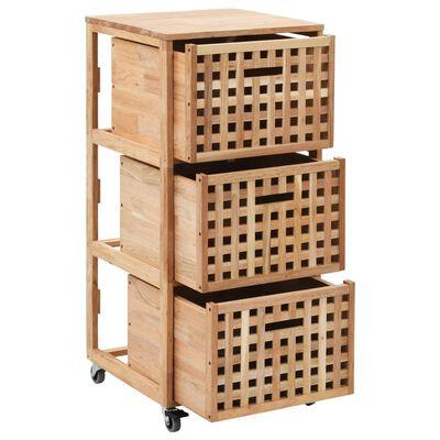 vidaXL Dulap de baie, 41 x 41 x 91 cm, lemn masiv de nuc