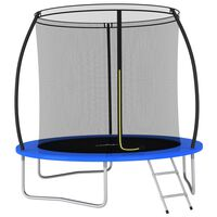 vidaXL Set trambulină rotundă, 244 x 55 cm, 100 kg