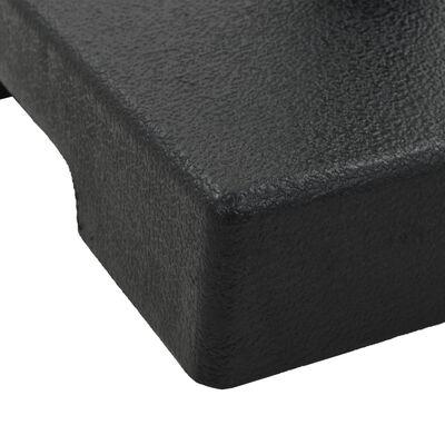 vidaXL Suport umbrelă de soare, negru, 8 kg, polirășină, pătrat