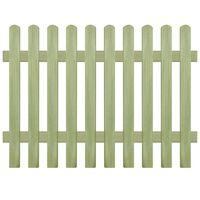 vidaXL Gard din țăruși, 170 x 120 cm 6/9 cm, lemn de pin tratat