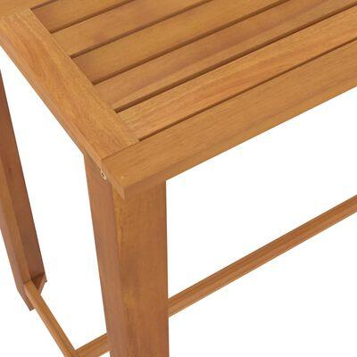 vidaXL Set mobilier bar de grădină, 9 piese, gri