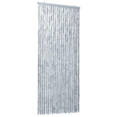vidaXL Perdea pentru insecte, alb și gri, 90x220 cm, Chenille