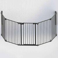Noma Poarta de siguranță cu 5 panouri Modular, metal, negru, 94238