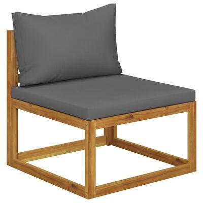vidaXL Set mobilier de grădină cu perne, 11 piese, lemn masiv acacia