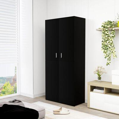 vidaXL Pantofar, negru, 80 x 39 x 178 cm, PAL, Black