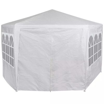 42346 vidaXL Marquee with 6 Side Walls White 2x2 m