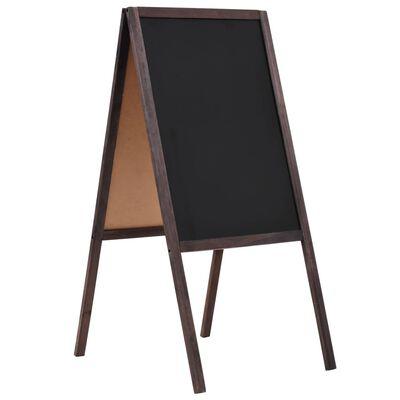 vidaXL Tablă neagră cu două fețe, lemn de cedru, verticală, 40x60 cm