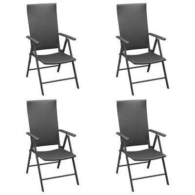 vidaXL Set de masă pentru grădină, 5 piese, negru și maro