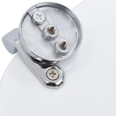 vidaXL Capace WC, 2 buc., MDF, model scoică