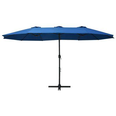 vidaXL Umbrelă soare exterior cu stâlp aluminiu, albastru, 460x270 cm