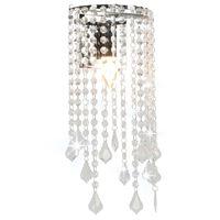 vidaXL Lampă perete mărgele cristal argintiu dreptunghiular becuri E14