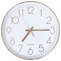vidaXL Ceas de perete, auriu rose, 30 cm