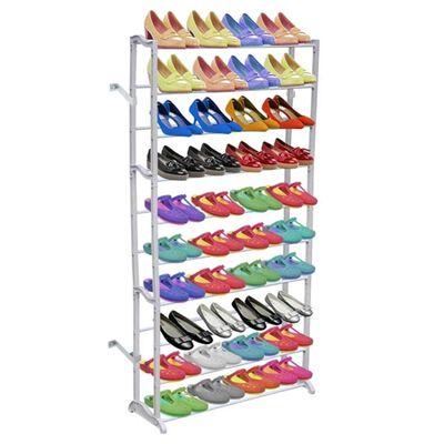 Organizator pantofi cu 10 rafturi