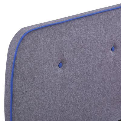vidaXL Cadru de pat, gri deschis, 180 x 200 cm, material textil