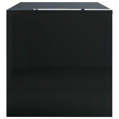 vidaXL Măsuță de cafea, negru extralucios, 100x40x40 cm, PAL