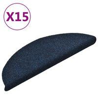 vidaXL Covorașe scări autoadezive 15 buc bleumarin 56x17x3 cm punch
