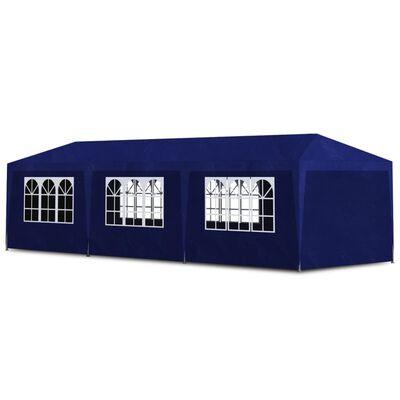 vidaXL Cort de petrecere, albastru, 3 x 9 m