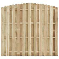 vidaXL Panou de gard, 180 x (155-170) cm, lemn de pin tratat