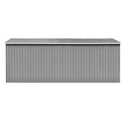 vidaXL Șopron de grădină, 257 x 489 x 181 cm, metal, gri