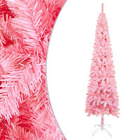 vidaXL Brad de Crăciun artificial subțire, roz, 150 cm