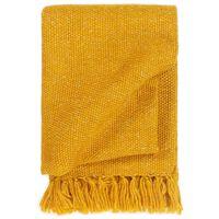 vidaXL Pătură decorativă, galben muștar, 160 x 210 cm, lurex