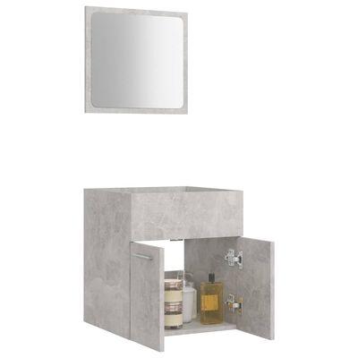 vidaXL Set mobilier de baie, 2 piese, gri beton, PAL