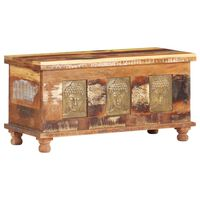 vidaXL Cutie depozitare cu placare Buddha,90 x 35 x 45 cm, lemn masiv reciclat