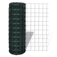 vidaXL Euro gard, verde, 25 x 1,5 m, oțel