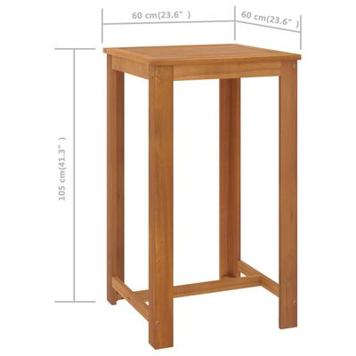 vidaXL Set mobilier bar de grădină cu perne, 3 piese, negru