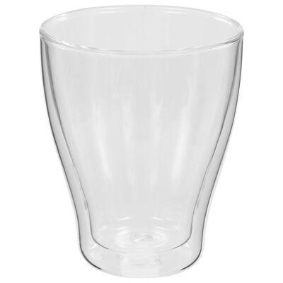 vidaXL Pahare pentru latte macchiato cu pereți dubli, 12 buc., 370 ml
