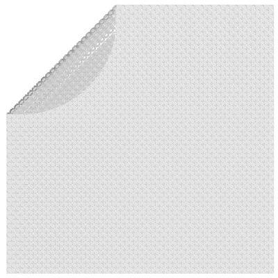 vidaXL Folie solară plutitoare de piscină, gri, 381 cm, PE