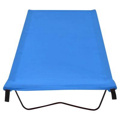 vidaXL Paturi camping 2 buc. albastru 180x60x19cm țesătură oxford&oțel
