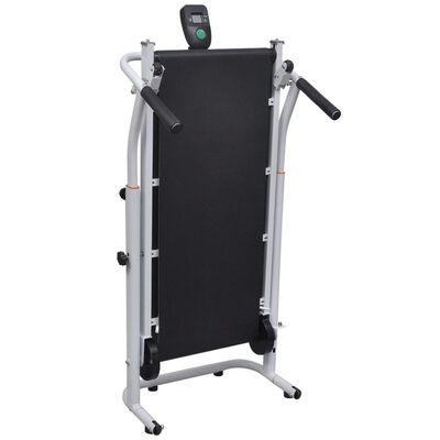 vidaXL Mini bandă de alergat pliabilă, negru, 93 x 36 cm