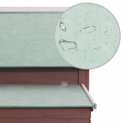 vidaXL Coteț pentru păsări, maro, 157 x 97 x 110 cm, lemn