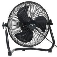 vidaXL Ventilator de podea, 3 viteze, 55 cm, 100 W, negru