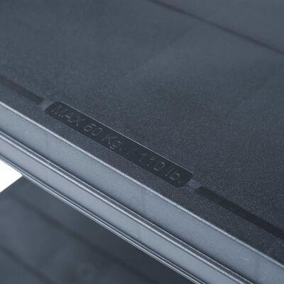 vidaXL Rafturi de depozitare 2 buc. negru 80x40x180 cm plastic 250 kg