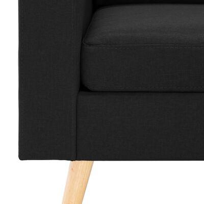 vidaXL Fotoliu, negru, material textil