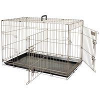 FLAMINGO Cușcă pentru animale de companie Ebo maro metalic 61x43x50 cm