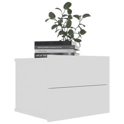 vidaXL Noptiere, 2 buc., alb, 40 x 30 x 30 cm, PAL