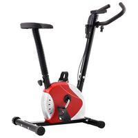 vidaXL Bicicletă de fitness cu centură de rezistență, roșu